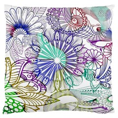 Zentangle Mix 1116a Large Flano Cushion Case (Two Sides)