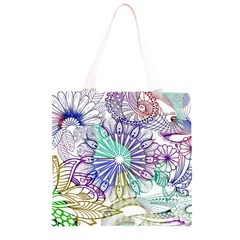 Zentangle Mix 1116a Grocery Light Tote Bag