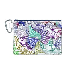 Zentangle Mix 1116a Canvas Cosmetic Bag (M)