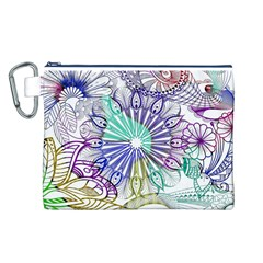 Zentangle Mix 1116a Canvas Cosmetic Bag (L)