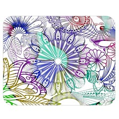 Zentangle Mix 1116a Double Sided Flano Blanket (Medium)