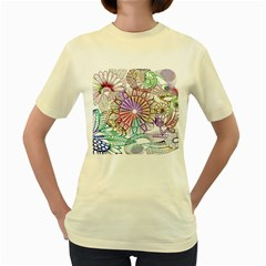 Zentangle Mix 1116b Women s Yellow T-Shirt
