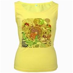 Zentangle Mix 1116b Women s Yellow Tank Top