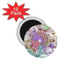 Zentangle Mix 1116b 1.75  Magnets (10 pack)