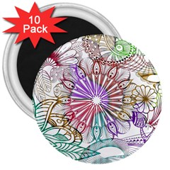 Zentangle Mix 1116b 3  Magnets (10 pack)