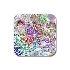 Zentangle Mix 1116b Rubber Square Coaster (4 pack)