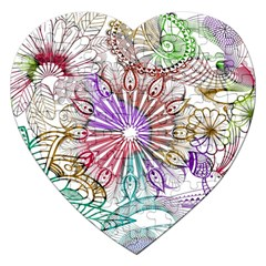 Zentangle Mix 1116b Jigsaw Puzzle (Heart)