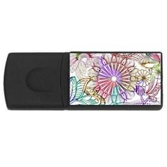 Zentangle Mix 1116b USB Flash Drive Rectangular (4 GB)