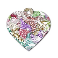 Zentangle Mix 1116b Dog Tag Heart (Two Sides)