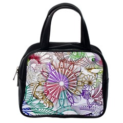 Zentangle Mix 1116b Classic Handbags (one Side)