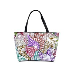 Zentangle Mix 1116b Shoulder Handbags