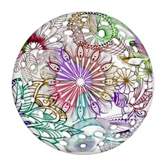 Zentangle Mix 1116b Round Filigree Ornament (2Side)