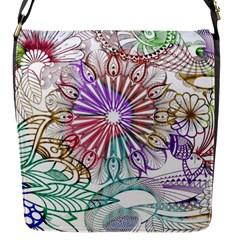 Zentangle Mix 1116b Flap Messenger Bag (S)
