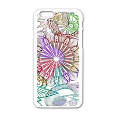 Zentangle Mix 1116b Apple iPhone 6/6S White Enamel Case