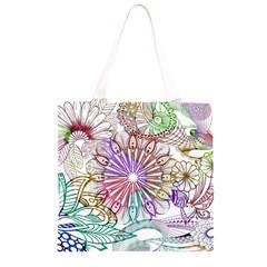 Zentangle Mix 1116b Grocery Light Tote Bag