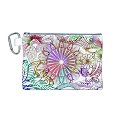 Zentangle Mix 1116b Canvas Cosmetic Bag (M)