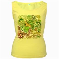 Zentangle Mix 1116c Women s Yellow Tank Top