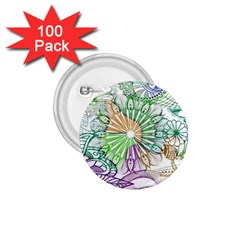 Zentangle Mix 1116c 1.75  Buttons (100 pack)