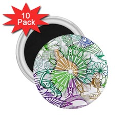 Zentangle Mix 1116c 2.25  Magnets (10 pack)