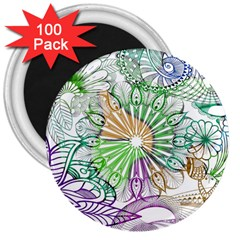 Zentangle Mix 1116c 3  Magnets (100 pack)