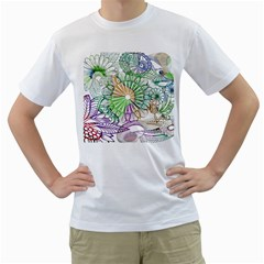 Zentangle Mix 1116c Men s T-Shirt (White) (Two Sided)