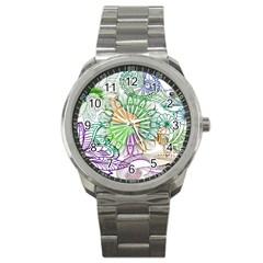Zentangle Mix 1116c Sport Metal Watch