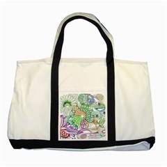Zentangle Mix 1116c Two Tone Tote Bag