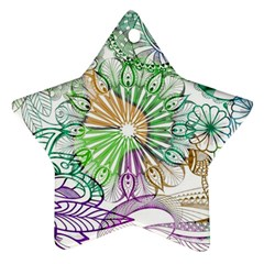 Zentangle Mix 1116c Star Ornament (Two Sides)