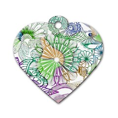 Zentangle Mix 1116c Dog Tag Heart (Two Sides)