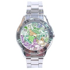 Zentangle Mix 1116c Stainless Steel Analogue Watch