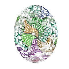 Zentangle Mix 1116c Oval Filigree Ornament (2-Side)