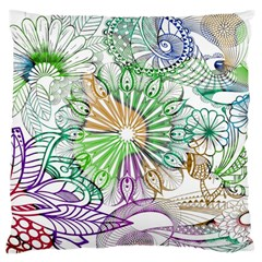 Zentangle Mix 1116c Large Flano Cushion Case (One Side)