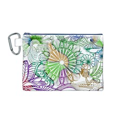Zentangle Mix 1116c Canvas Cosmetic Bag (M)