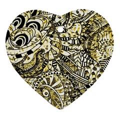Zentangle Mix 1216a Ornament (Heart)
