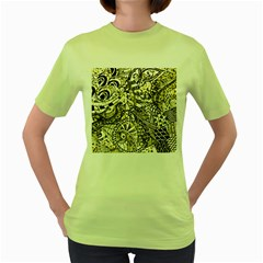 Zentangle Mix 1216a Women s Green T-Shirt