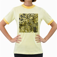 Zentangle Mix 1216a Women s Fitted Ringer T-Shirts