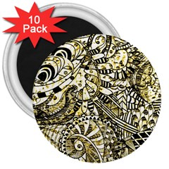 Zentangle Mix 1216a 3  Magnets (10 pack)