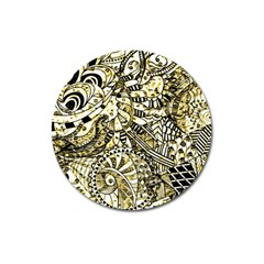 Zentangle Mix 1216a Magnet 3  (Round)