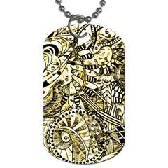 Zentangle Mix 1216a Dog Tag (Two Sides)