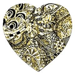Zentangle Mix 1216a Jigsaw Puzzle (Heart)