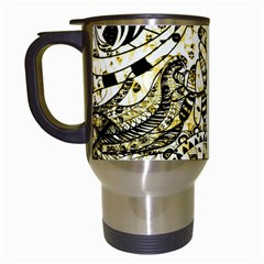Zentangle Mix 1216a Travel Mugs (White)