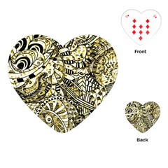 Zentangle Mix 1216a Playing Cards (Heart)