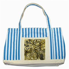 Zentangle Mix 1216a Striped Blue Tote Bag