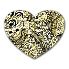 Zentangle Mix 1216a Heart Mousepads