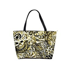 Zentangle Mix 1216a Shoulder Handbags