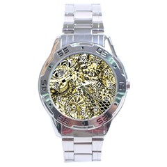 Zentangle Mix 1216a Stainless Steel Analogue Watch