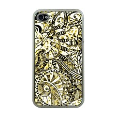 Zentangle Mix 1216a Apple iPhone 4 Case (Clear)