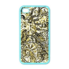 Zentangle Mix 1216a Apple iPhone 4 Case (Color)
