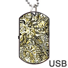 Zentangle Mix 1216a Dog Tag USB Flash (One Side)