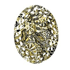 Zentangle Mix 1216a Ornament (Oval Filigree)